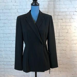 Ann Taylor black wrap tailored blazer